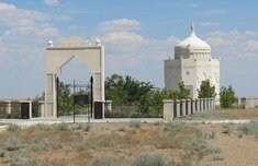 The grave site of the great Kazakh poet of the 19th century, free-thinker and inspirer of the rebellion of Makhambet Utemisov is situated in Inder, Atyrau region, 40 km to the south-east from the village Inderbor.